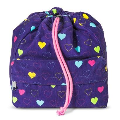 Girls' Heart Drawstring Backpack - Purple