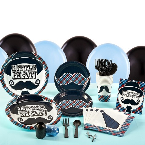 Little Man Mustache Birthday Party Pack