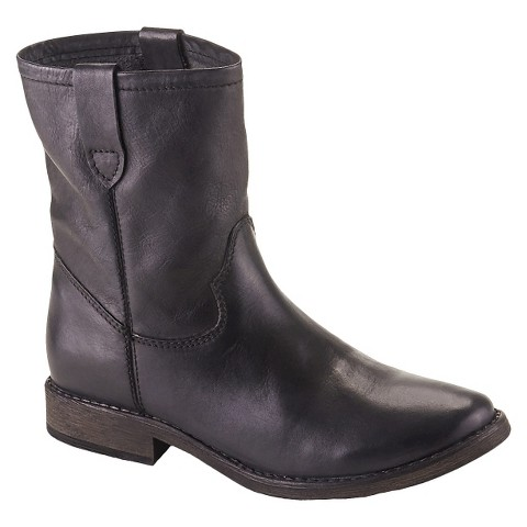 s joelle genuine leather western ankle boots target