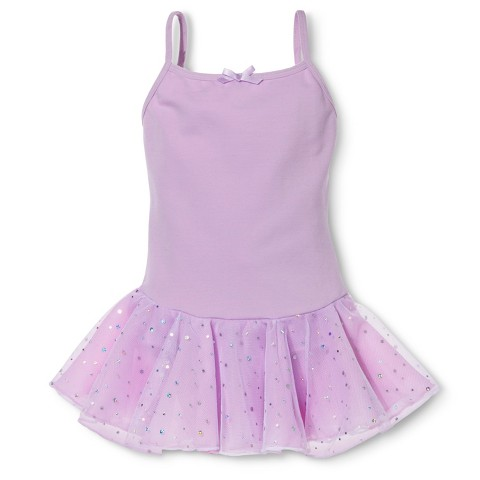 Danz N Motion® by Danshuz® Girls' Activewear Leotard Dress - Lavender