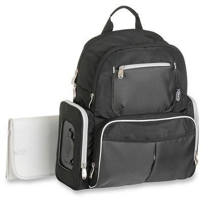 Graco Gotham Backpack Diaper Bag - Black & Gray