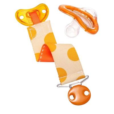Munchkin LATCH™ Pacifier & Designer Clip, 0+ Months - Orange