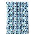 Room Essentials® Vinel Shower Curtain - Black/Gray