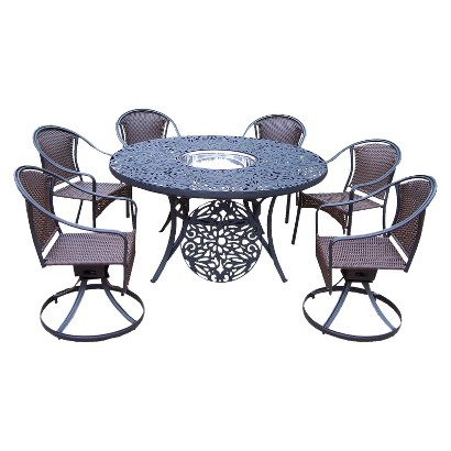 Tuscany Cast Aluminum 7-Piece Patio Dining Furniture Set