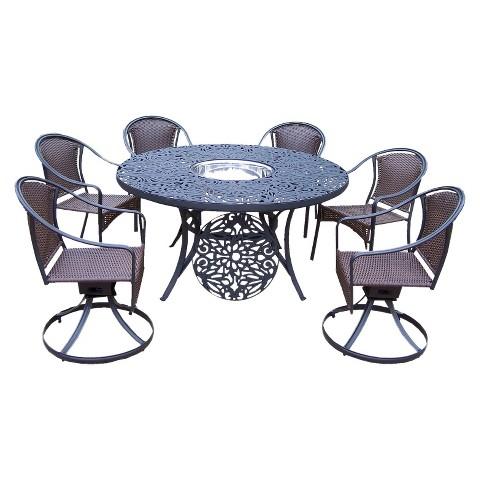 Tuscany Cast Aluminum 7-Piece Patio Dining Furniture Set