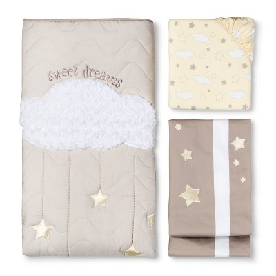 Sweet Dreams 3pc Crib Bedding Set