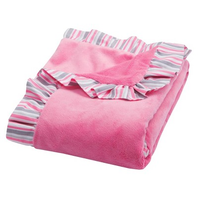 Lily Ruffle Trimmed Receiving Blanket