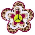 Berry Leopard Wall Clock