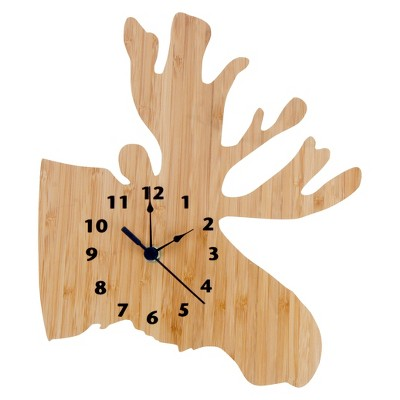 Northwoods Moose Decorative Wall Clock