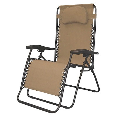 Oversized Infinity Zero Gravity Chair--Beige