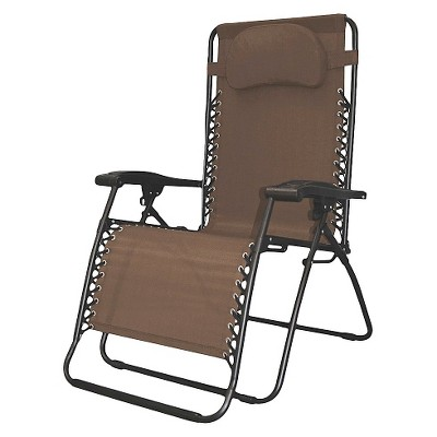 Oversized Infinity Zero Gravity Chair--Brown