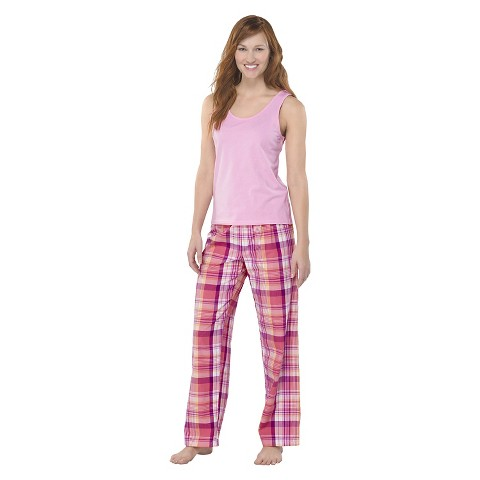 Hanes® Premium Women's PJ Set - Pink Plaid