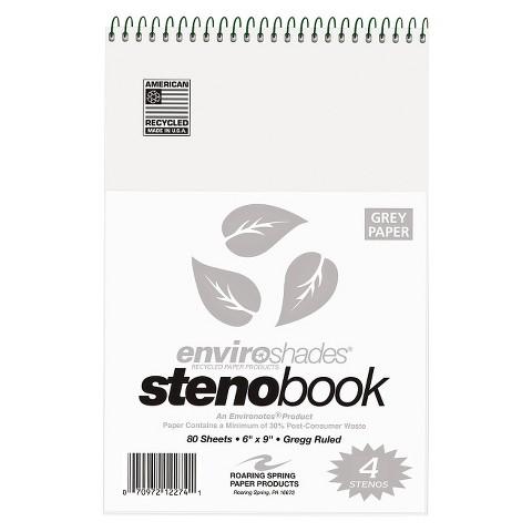Roaring Spring® Enviroshades Steno book - Gray (80 Sheets Per Pad)