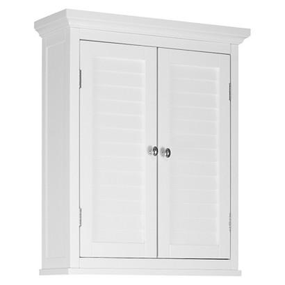 Elegant Home Fashion Slone 2 Door Shuttered Wall Cabinet