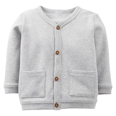 Just One You™Made by Carter's® Newborn Boys' Long-sleeve Cardigan - Grey XL