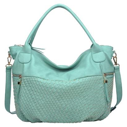 Moda Luxe Side Woven Tote Handbag