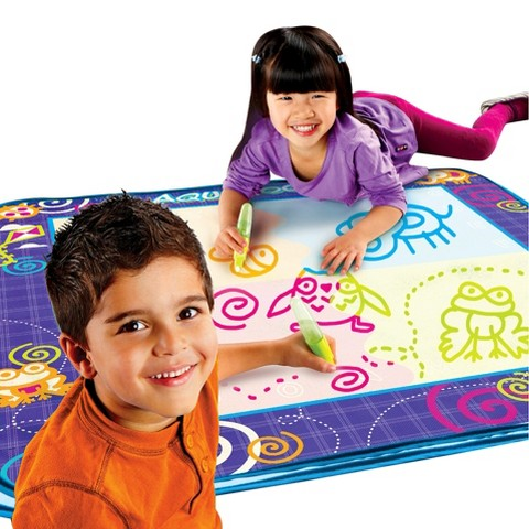 Aquaoodle Drawing Mat with Neon Color Reveal