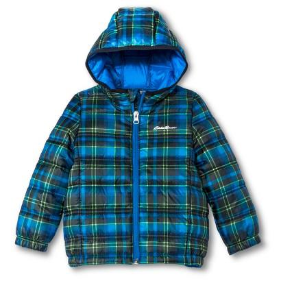 Eddie Bauer® Toddler Boys' Plaid Quilted Puffer Jacket