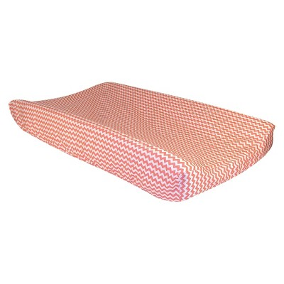 Trend Lab Changing Pad Cover Coral Chevron