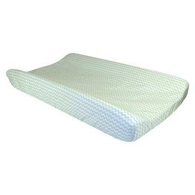 Trend Lab Changing Pad Cover Mint Chevron