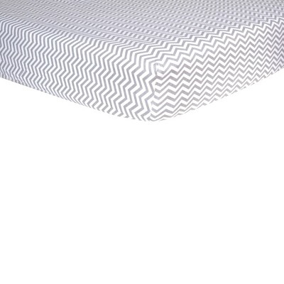 Grey Chevron Fitted Crib Sheet