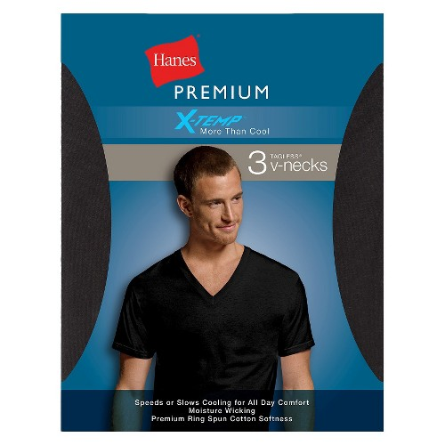 hanes men 39 s x temp v neck t shirts assorted colors ebay