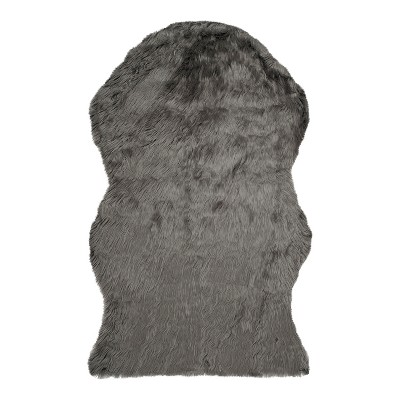 Safavieh Haven Faux Sheepskin Accent Rug - Gray (3'x5')