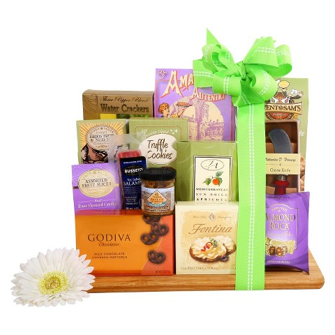 Deluxe Springtime Gourmet Bamboo Cutting Board Gift Set