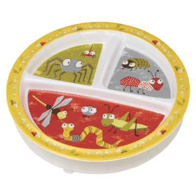 SugarBooger Divided Suction Plate - Icky Bugs
