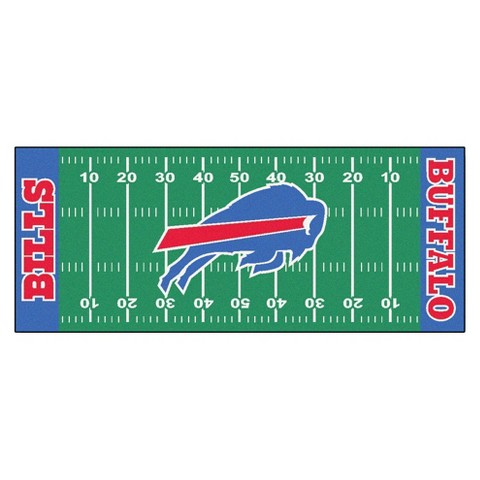 Buffalo Bills Fanmats Football Field Runner Rug Multicolor