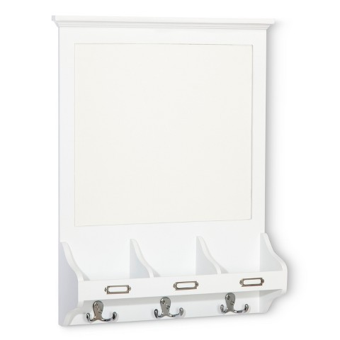 Threshold Entryway Organizer with Dry Erase Board, Mail Sorter and Hooks