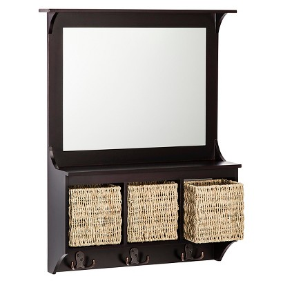 Threshold™ Entryway Mirror with Baskets and Hooks