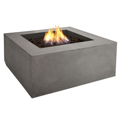 Real Flame Baltic Square Fire Table