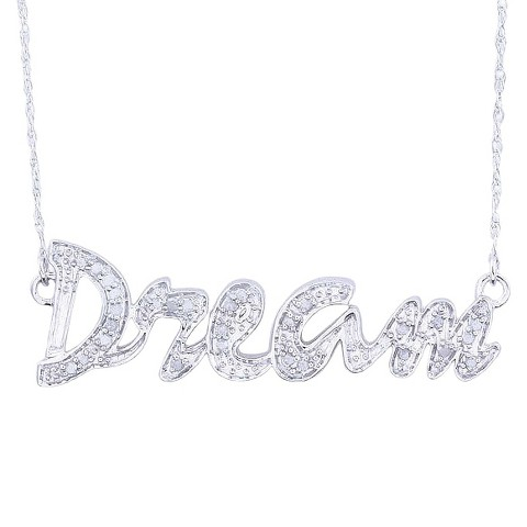 0.12 CT.T.W. Diamond Dream Script Necklace in Sterling Silver