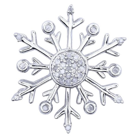 0.15 CT.T.W. Diamond Snowflake Pendant in Sterling Silver