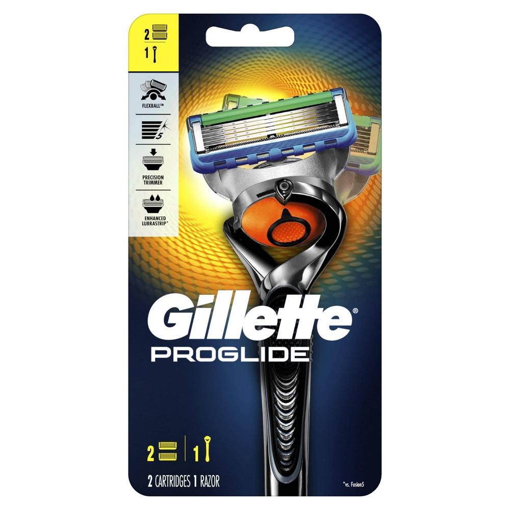 Gillette Fusion ProGlide Razor Handle with FlexBall Technology with 2 Fusion ProGlide Men's Razor Blades