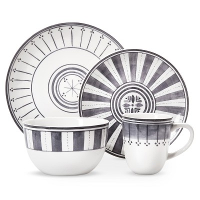 Threshold™ Lansford 16 Piece Dinnerware Set - Grey Novelty