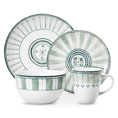 Threshold™ Lansford 16 Piece Dinnerware Set - Green Novelty