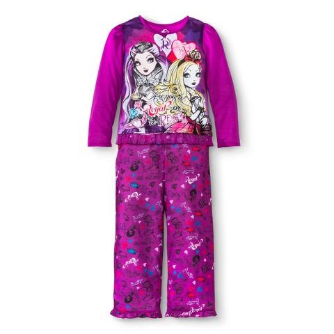 Ever After High Girls' 2-Piece Long-Sleeve Pajama Set Purple