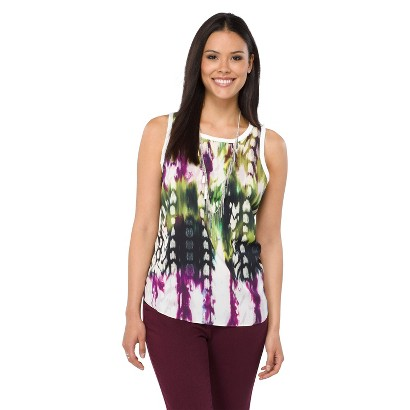 Mossimo® Women's Crew Woven Tank - Assorted Colors