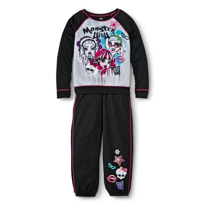 Monster Chic Girls' Pajama Set