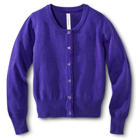 Girls' Long Sleeve Solid Cardigan