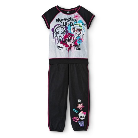 Ever After High Girls' 2-Piece Short Sleeve Pajama Set