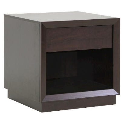 Wholesale Interiors Baxton Studio Girvin Modern Accent Table and Nightstsnd - Brown
