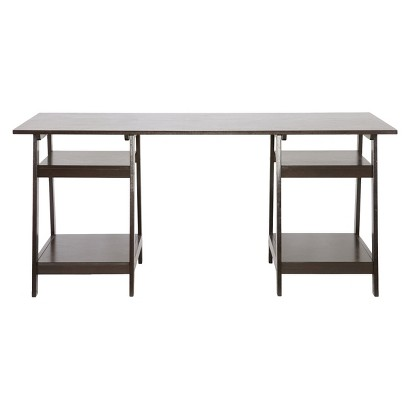 Wholesale Interiors Baxton Studio Mott Wood Modern Desk -  Dark Brown