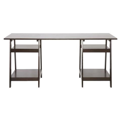 Wholesale Interiors Baxton Studio Mott Wood Modern Desk -  Dark Brown