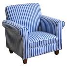 Juvenile Club Chair - Blue & White Stripes