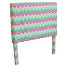 Zig Zag Kids Headboard - Pink/Green (Twin)