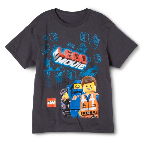 Lego® Movie Brick Clouds Tee -  Charcoal