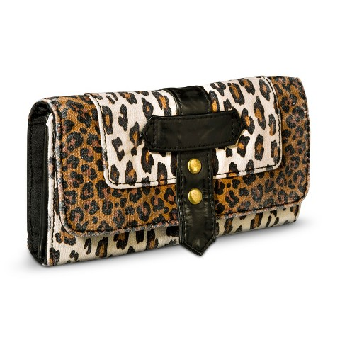 Mossimo Supply Co. Leopard Print Trifold Wallet - Brown